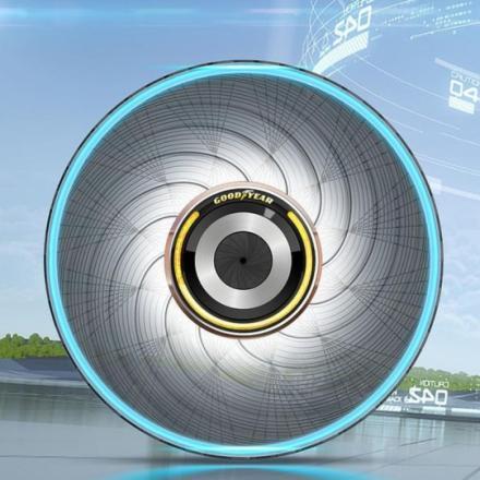Goodyear представила шины с функцией саморегенерации.