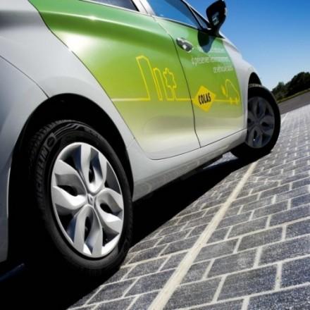 Французы изобрели дорожное полотно с солнечными батареями.